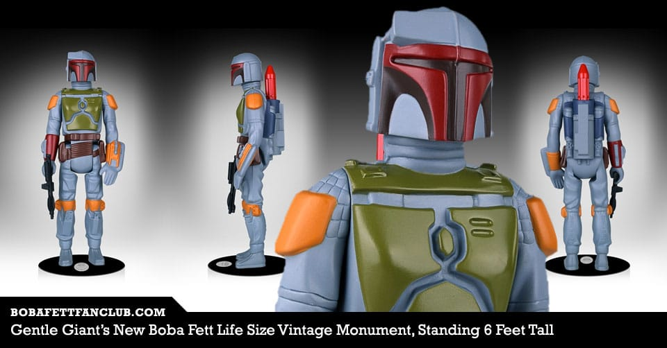 Gentle Giant's New Boba Fett Life Size Vintage Monument, Standing 6 Feet Tall