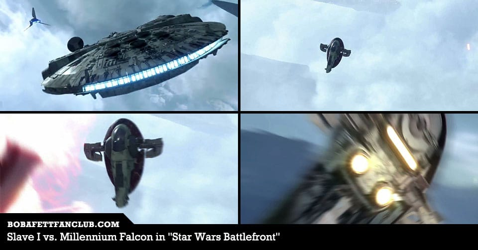 Slave I vs. Millennium Falcon in the New Star Wars Battlefront