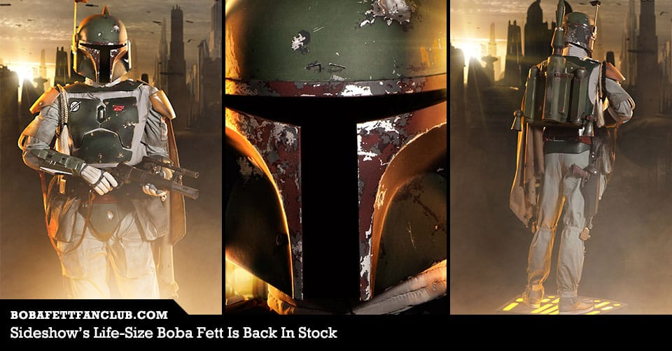 Sideshow's Life-Size Boba Fett Is Back In Stock